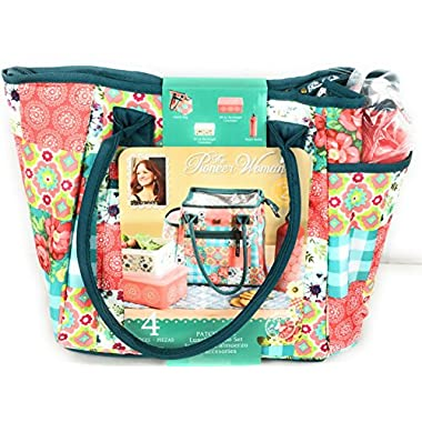 Pioneer Woman Insulated Lunch Bag Patchwork - 4 Piece