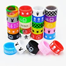 Vape Bands - CENGLORY Silicone Anti Skid Vape Rings Rubber Bands for Mechanical Mods RDA RBA Tank -18mm DIY Cover Vape Bands (10)
