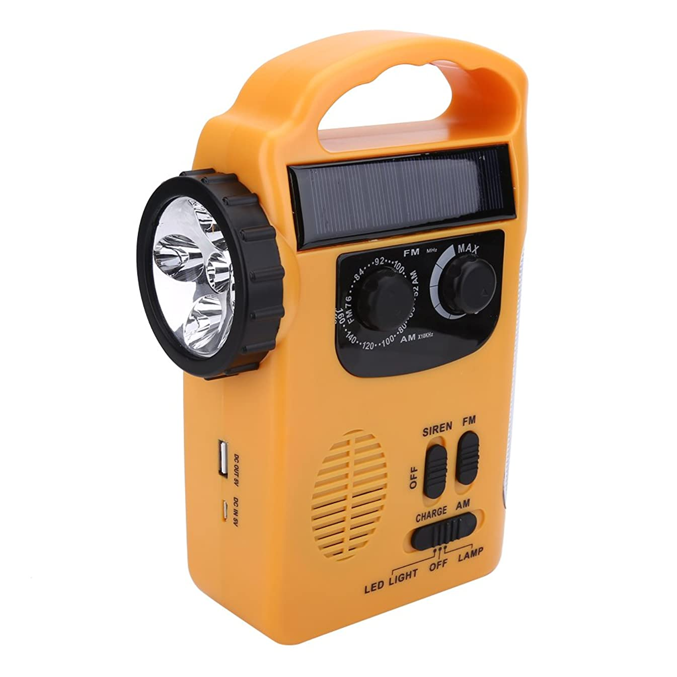 伝染病ゴミ極端な【緊急用?非常用】LEDラジオライト 懐中電灯 手回し/ソーラー/USB充電/電池 携帯ラジオ スマホ充電対応可能 防災グッズ 地震?震災?津波?台風 緊急対策 ケーブル付き