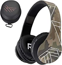 PowerLocus Bluetooth Over-Ear Headphones, Wireless Stereo Foldable Headphones Wireless and Wired Headsets with Built-in Mic, Micro SD/TF, FM for iPhone/Samsung/iPad/PC (Camo)