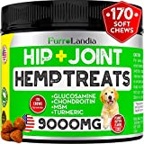 FurroLandia Hemp Hip & Joint Supplement for Dogs - 170 Soft Chews - Made in USA - Glucosamine for Dogs - Chondroitin - MSM - Turmeric - Hemp Seed Oil - Natural Pain Relief & Mobility (170 Chews)