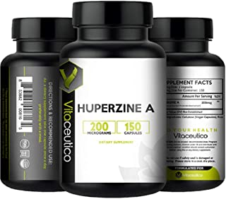 HUPERZINE A 200 mcg x 150ct - by VITACEUTICO -Supports Healthy Cognitive Function