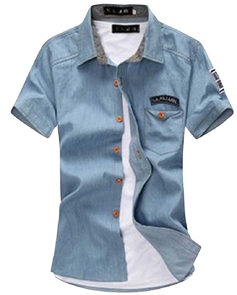 合併砲兵梨Orange Ananas 大きいサイズ も 半袖 メンズ ファッション アメカジ カジュアル アウター シャツ T-078