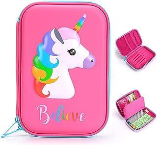 Mumoo Bear 1PCS Cute Unicorn Pencil Case School Supplies Stationery Pencil Case Cartoon Design Hard Shell Cake Pencil Bag ...