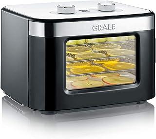 Graef Mini-dörrtomat DA2042EU, med 4 rostfria skålar, 400 watt, 24 timmars timer, temperaturregulator 35–80 , mycket kompakt
