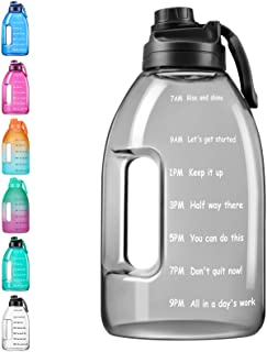 Sponsored Ad - Letsfit 1 Gallon Water Bottle with Motivational Time Marker Reminder, 128oz Large Capacity, BPA-Free, Premi...