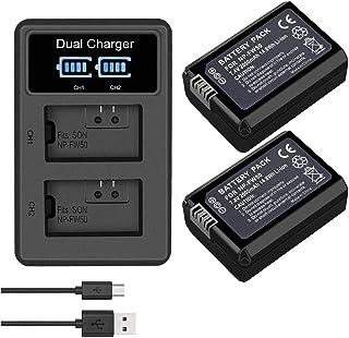 Sony npfw 50 np-fw50 con pantalla LCD Patona síncrono USB cargador F