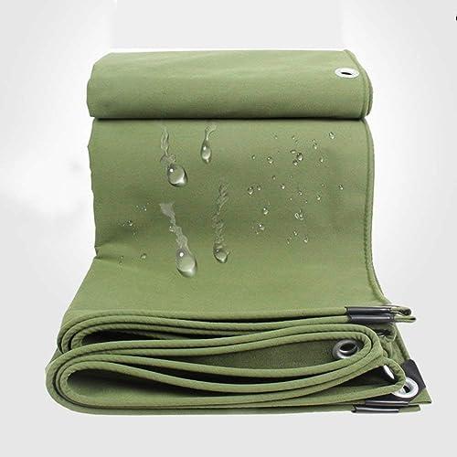Toile de camping toile de prougeection solaire en toile de camion auvent extérieur abat-jour coupe-vent isolation contre l'usure résistance à la rupture vert (Couleur   Vert, taille   2X4M)