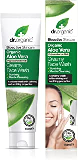DR ORGANIC Creamy Face Wash Organic Aloe Vera, 150 Milliliter