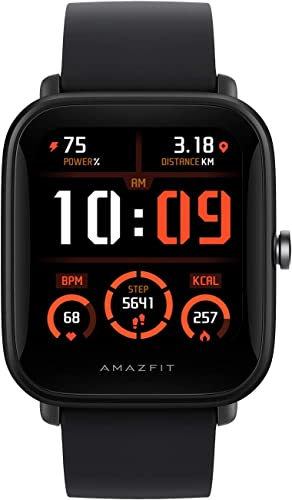 Amazfit Bip U Pro Smart Watch Sports Watch with Bulit in Alexa and GPS Electronic Compass 60 Sports Modes 5 ATM Fitness Tracker with SpO2 HR Sleep Stress Monitor 1 43 Color Touch Screen Black