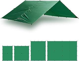 Aqua Quest Guide Tarp - 100% Waterproof Ultralight Ripstop SilNylon Backpacking Rain Fly - 10x7, 10x10, 13x10, 20x13 Green...