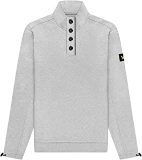 Lyle and Scott Casuals Funnel Neck with Buttons - Cotton