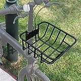 ZDAMN Cesta de Bicicleta Cesta Plegable Bicicleta eléctrica Cesta de Bicicleta Cesta de Bicicletas para Bicicleta (Color : Black, Size : 30x32x14cm)