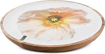 Thirstystone Congo Sunset Poppy Wood and Enamel Serving Tray