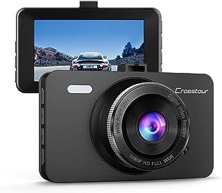 Crosstour Dash Cam 1080P Car Driving Camera Recorder DVR Full HD 3