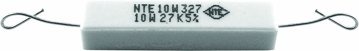 NTE Electronics 10W115 Resistor, Wire Wound, Axial Leaded, 5% Tolerance, 150 Ohm Resistance, 10W, 550V (Pack of 2)