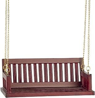Classics Dollhouse Miniature Porch Swing, Mahogany Finish #CLA74084