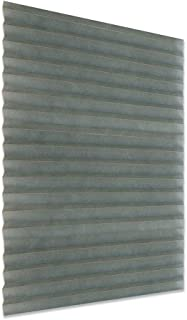 VICV2RO Persiana plisada, sin perforación, autoadhesiva, fácil de fijar, persianas de privacidad temporales instantáneas para ventana, puerta, baño, cocina, balcón, gris, 60*180