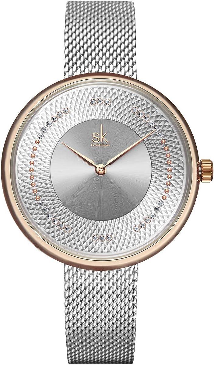 Alienwork SK Reloj Mujer Elegante Strass