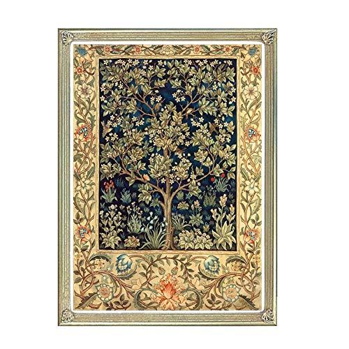 Kreuzstich Kits, 5D Golden Tree Textur, Stickerei Handsets mit gedrucktem Muster, 11CT Leinwand, Inneneinrichtungen Malerei Handgemachte Kreuzstich