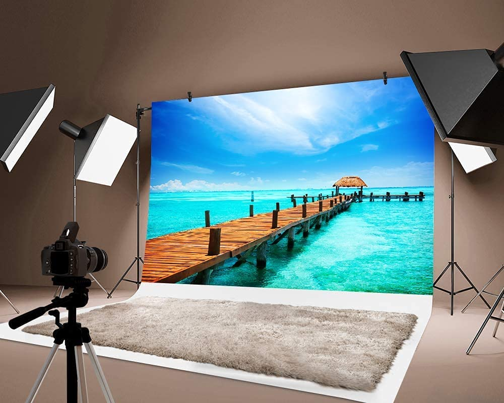 WENJIA Max 66% OFF Retro Photography Background Surprise price Seahouse Portrait for Props