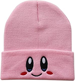 Kirby Beanies hat Lovely face Embroidery Winter Knitted Hat Bonnet Cap Girls Boys Skiing Warm Unisex
