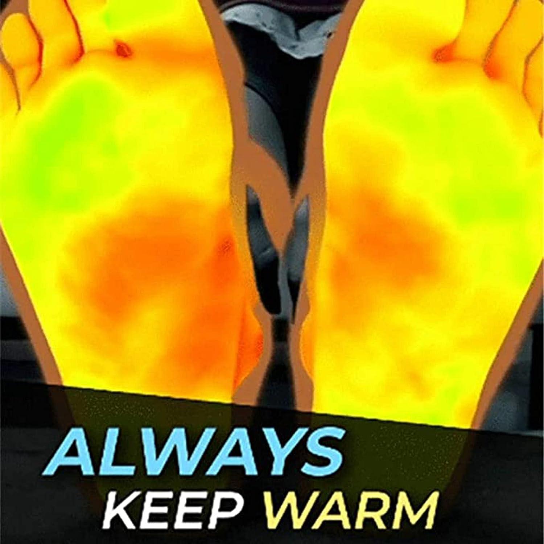 Outdoor Heated Socks for Men Women, Self Heating Socks Magnetic Socks Tourmaline Socks, Comfortable Breathable Massage Anti-Freezing Warm Foot Socks Hiking Skiing (A-Red)