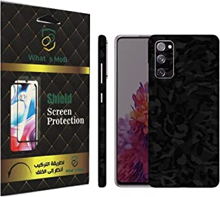 For SAMSUNG NOTE 20 ULTRA back full skin black Camo Texture felling by whats mob (Not Cover)