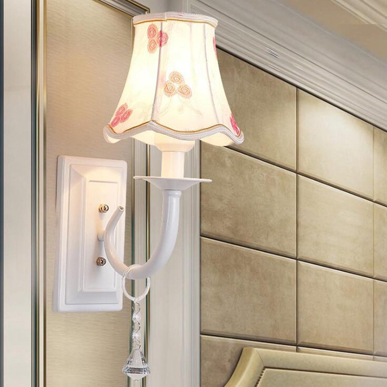 Axiba Wandleuchten LED-Wandleuchte Nachttischlampe Flur europischen Wandleuchte Bügeleisen retro Wandleuchte Lampenabdeckung Material  Glas 19x6x3cm