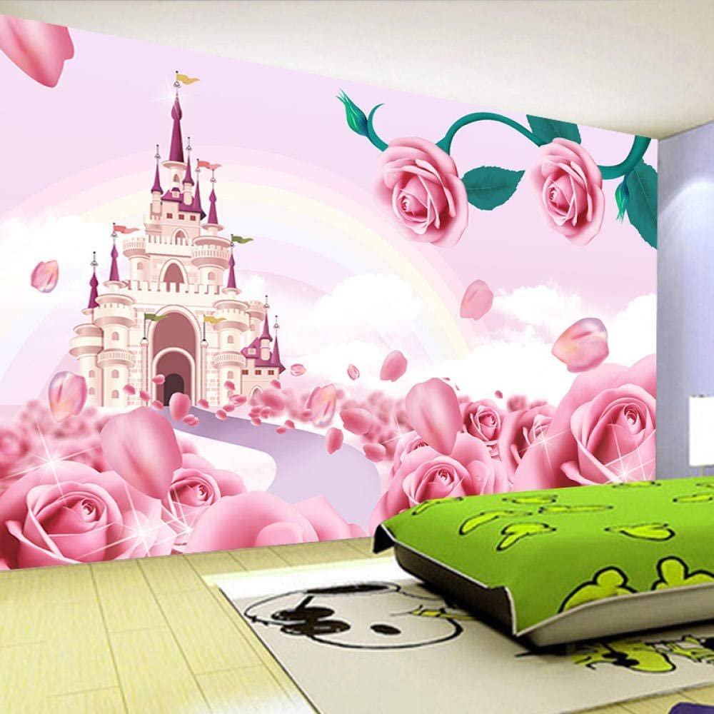 Custom Photo Wallpaper for Walls 3 Cartoon Safety and trust D Rose Castle Fixed price sale Princes