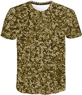 Camiseta para Hombre Moda para Hombre Deportes Fitness 23 Camuflaje Camisa 3DT de Manga Corta Camisa para camuflaje-TXA1084_S