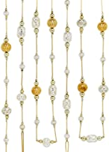 Kurt Adler Silver and Gold Metal Beaded Garland C6670