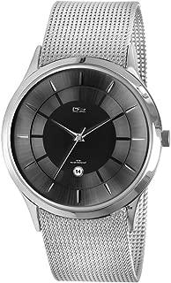 Metropolitan Steel Black Dial Men's Watch - Flexible Milanese Mesh Band - Slim Case - 50M Water Resistant - Precision Quartz Movement - Magnificent Presentation Case