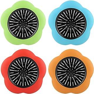 4 Colori Filtri per Lavello Anti-intasamento Lavello per Fiori Creativo Tappo di Scarico Universale per Cucine//Bagni//Lavanderia Seully 8 Pezzi Filtri per Lavello,Filtro per Fognatura