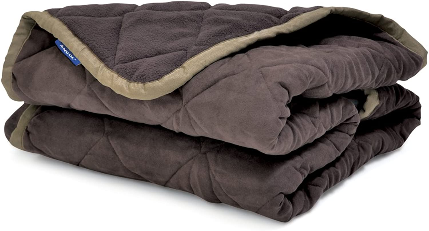 Ancol Sleepy Paws Quilted Chair Throw Brown 145x145cm
