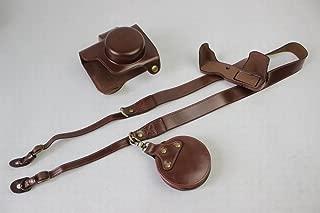 オリンパス OM-D E-M10 Mark III OM D E M10 Mark III 14-42mm カメラケース、koowl 手で作った最高級のpu革の全身カメラ保護殻、OLYMPUS OM-D E-M10 Mark III OM D E M10 Mark III ケース(14-42mmのレンズに適用)向けの透かし彫りベース+ショルダーストラップ+ミニ収納ケース、防水、防振、携帯型 (コーヒー色)