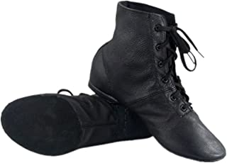 Cheapdancing Men's Practice Dancing Shoes Soft Leather Flat Jazz Boots