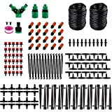 YOSHOOT Automatic Watering Kit, 100 ft/30 m Plant Watering Kit with 20 PCS Drip Emitter, 169 PCS Garden Irrigation System for Plant Flower Lawn Veranda Balcony Greenhouse Courtyard