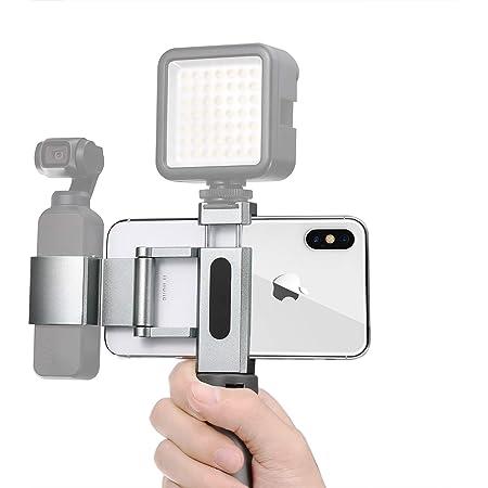 Guedieo Osmo Pocket 2/1 マウント ハンドヘルドスマホホルダー 拡張ホルダー osmo ポケットホルダークリップ コールドシュー付き Osmo ポケットVlog アクセサリーセット