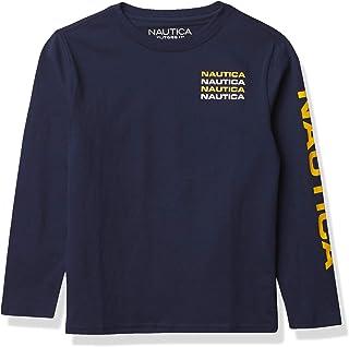 Nautica boys Nautica Boys' Long Sleeve Solid Crew-Neck T-Shirt T-Shirt
