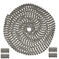 Okones 20 Foot Length,1.2mm Bead Diameter,Oval Ball Chain,304 Stainless Steel,with 20pcs Matching 'B' Couplings