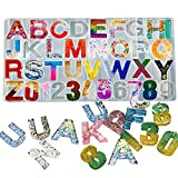 Alphabet Resin Mold,Silicone Letter & Number Resin Casting Molds Epoxy Molds DIY Making Tool for Earring Keychain Jewelry Accessory