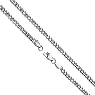 Jewelry 4mm Silver Titanium Steel Link Curb Chain Necklace for Men Women 16-30 Inch