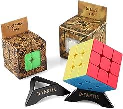 D-FantiX Speed Cube Set, 2x2 3x3 Speed Cube Stickerless Bundle Magic Cube Puzzle Toys Pack of 2