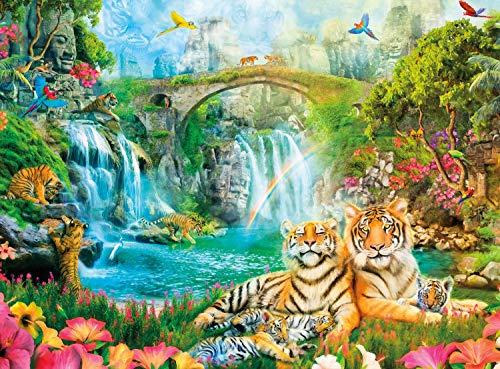 Games Aimee Stewart Majestic Tiger Grotto Puzzle de 1000 piezasPet Street Puzzles para niños Juguetes educativos Juego Rompecabezas Juguetes Decoración del hogar