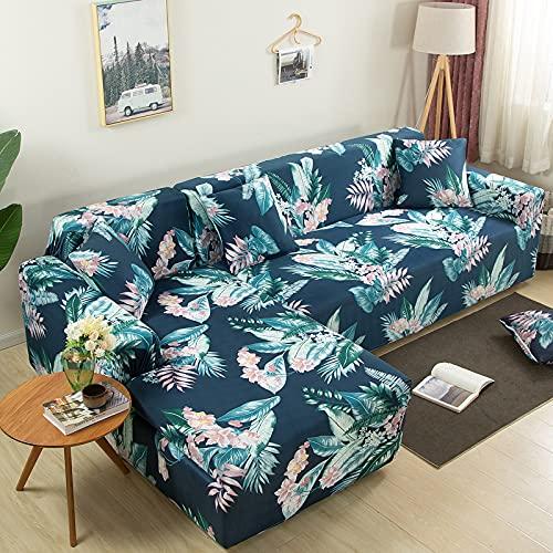 ZOULME Sofabezug L-Form Bedrucktes Muster Rutschfester, Staubdichter, Waschbarer, Langlebiger Möbelschutz für Sofagarnituren im Wohnzimmer