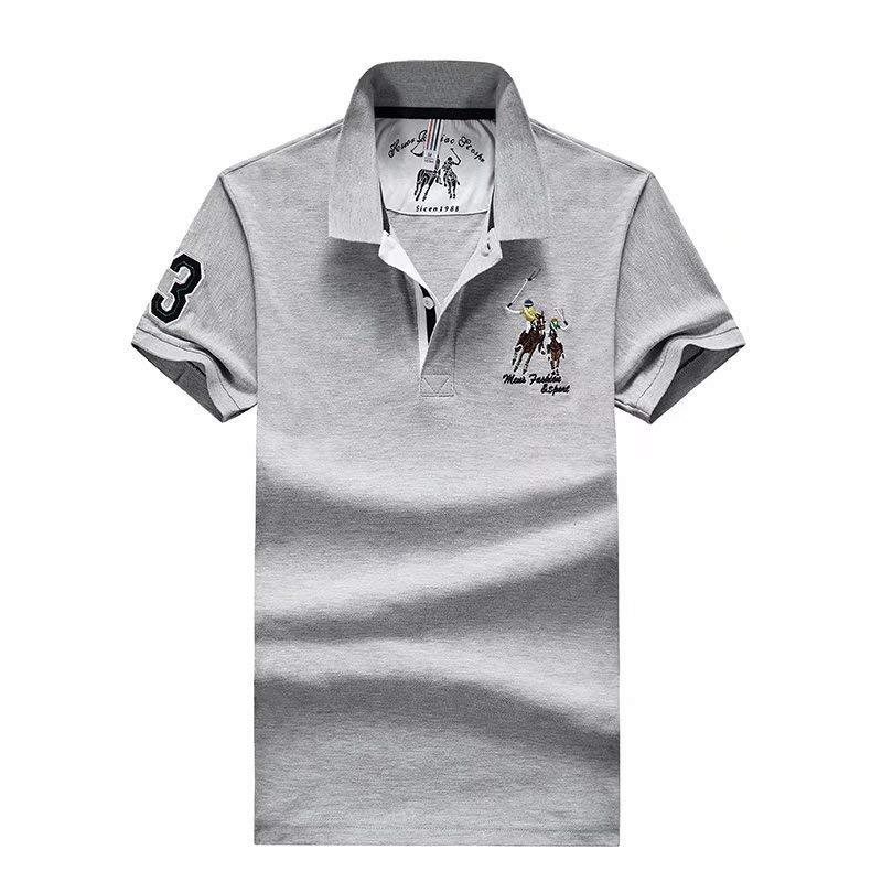 Dwayne Deweyポロシャツ男性2019年夏の新しいメンズ綿通気性ラペル半袖TシャツカジュアルDFH1335-CVXGV