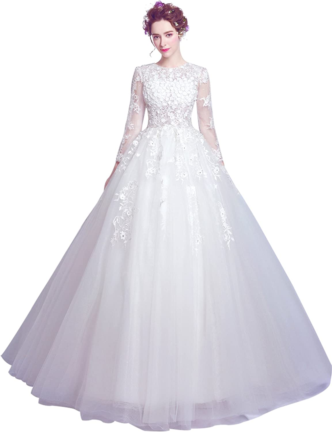 Epinkbridal Ball Gown Wedding Dress With Long Sleeve Lace s Vintage Bridal Gowns