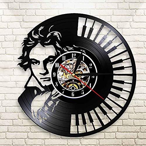 MYYXGS Reloj de pared de 12 pulgadas silencio sin garrapatas reloj digital árabe redondo decorativo reloj de pared para sala de estar, dormitorio, cocina 30 cm (LED)