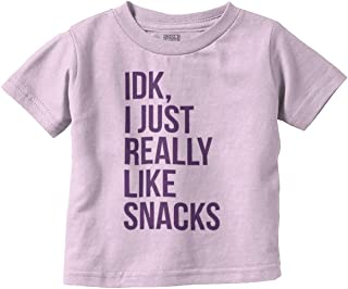 Brisco Brands Snacks Funny Hungry Ironic Cute Hangry Infant Toddler T Shirt